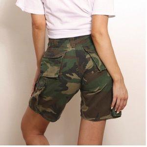Pants - authentic vintage camo army shorts